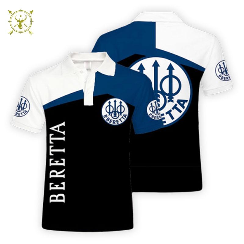 BERETTA Lapel Collar T-shirt for Men