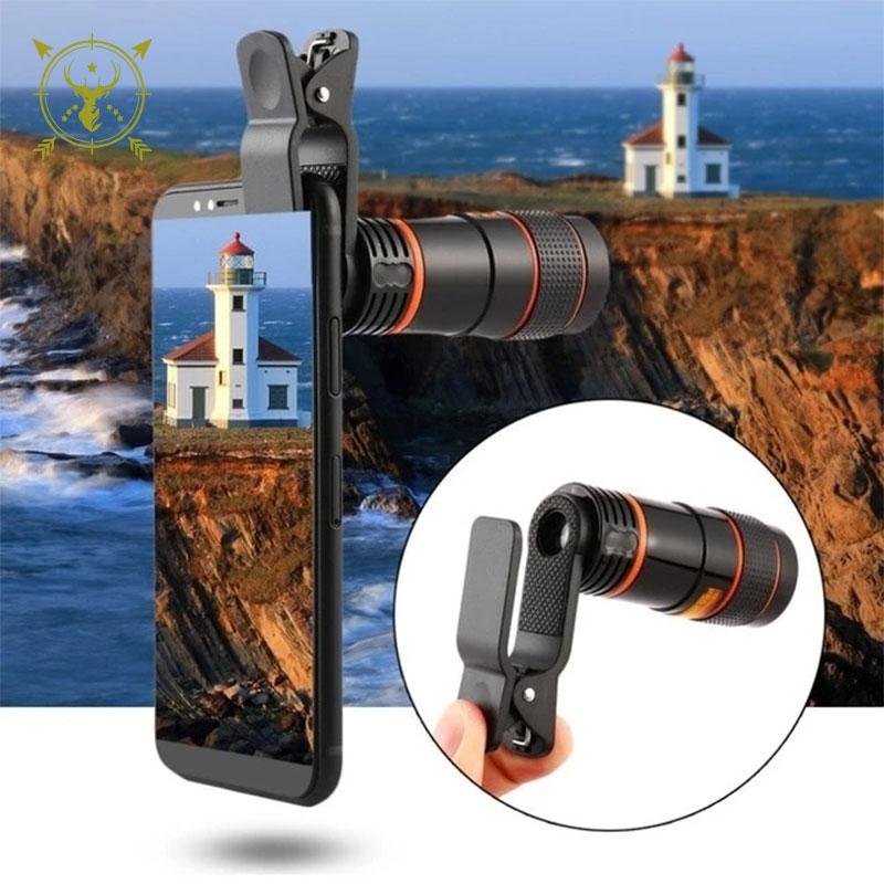 Universal 8X Zoom Optical Mobile Phone Telescope Lens