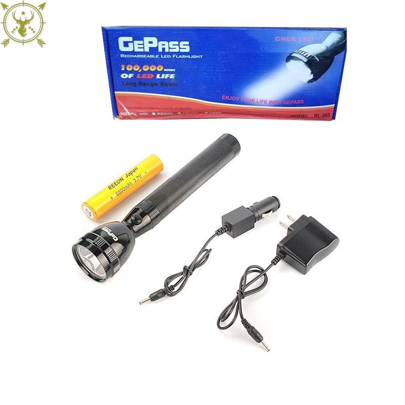 GEEPAS Rechargeable High Range Torch Flashlight RL-203