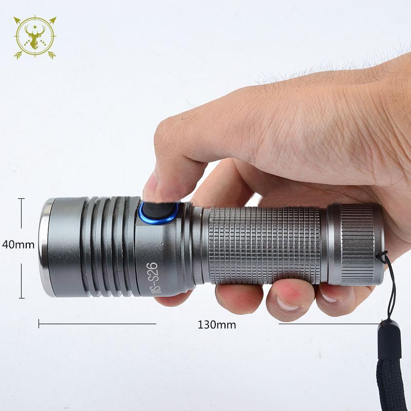 KINSACH T6 bulb WS-S26 Aluminum flashlight