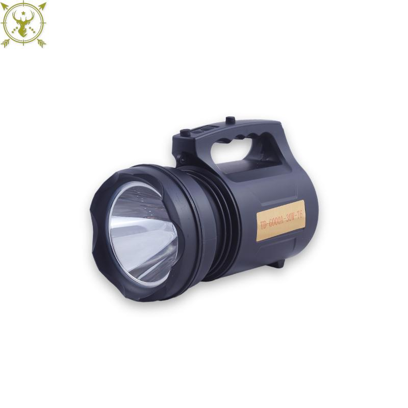 Rechargeable Digital Searchlight TD-6000A-30W-T6 black