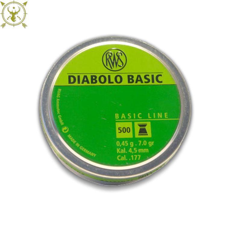 RWS Diablo Basic Line 7.0 Grain Air Gun Pellets- .177 Caliber-500 Count