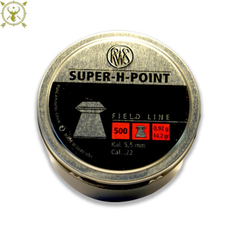 RWS Super H Point Field Line .22 Caliber Pellet 500 Packing