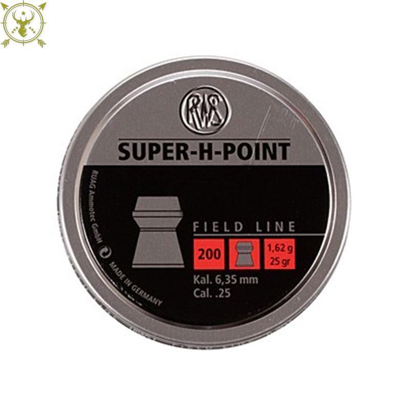 RWS Super H Point Field Line .25 Caliber Pellet 200 Packing